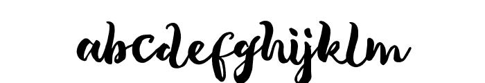 TropicalBrushScript Font LOWERCASE