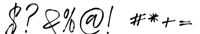 TropicalHardBrush Font OTHER CHARS