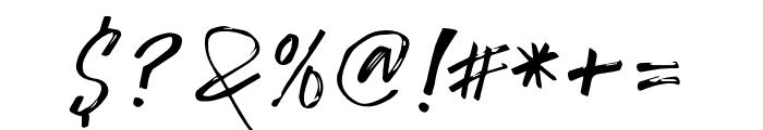 TropicalHardBrushCaps Font OTHER CHARS