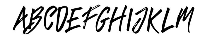 TropicalHardBrushCaps Font LOWERCASE