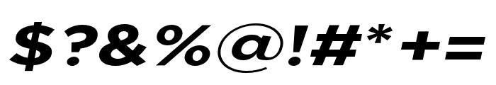 Uniclo Bold Italic Font OTHER CHARS