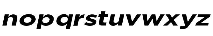 Uniclo Bold Italic Font LOWERCASE