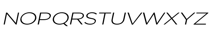 Uniclo Light Italic Font UPPERCASE