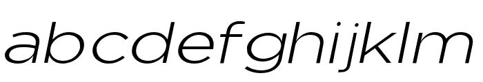 Uniclo Light Italic Font LOWERCASE