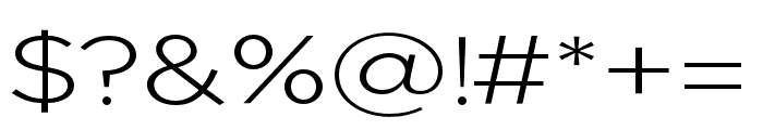 Uniclo Light Font OTHER CHARS