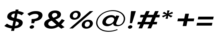 Uniclo Medium Italic Font OTHER CHARS