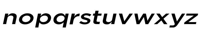 Uniclo Medium Italic Font LOWERCASE
