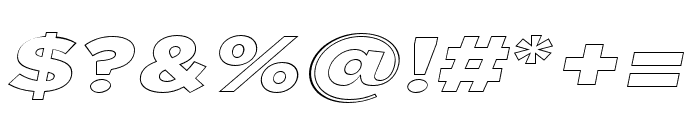 Uniclo Outline Italic Font OTHER CHARS