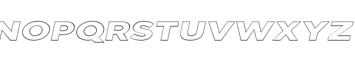 Uniclo Outline Italic Font UPPERCASE