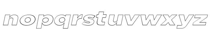 Uniclo Outline Italic Font LOWERCASE
