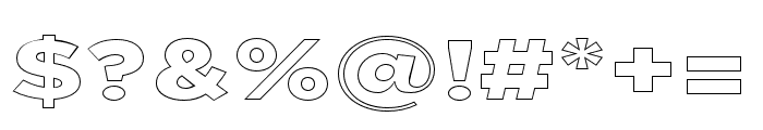 Uniclo Outline Font OTHER CHARS