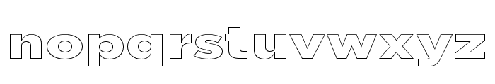 Uniclo Outline Font LOWERCASE