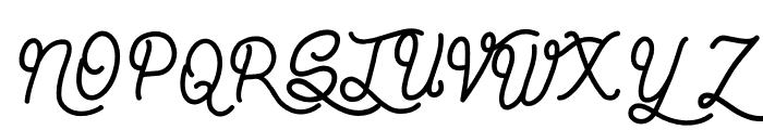 Vagabond Style Font UPPERCASE