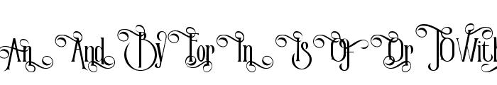 Victorian Parlor Alt Character Font UPPERCASE