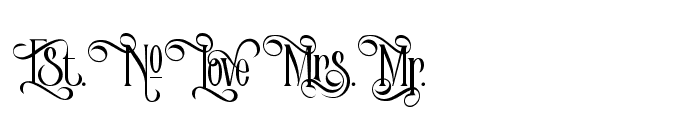 Victorian Parlor Alt Character Font LOWERCASE