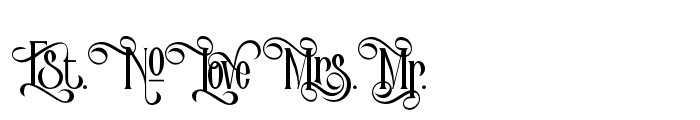 VictorianParlorAltCharacter Font LOWERCASE