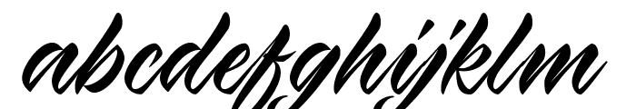 Virmana Script Font LOWERCASE