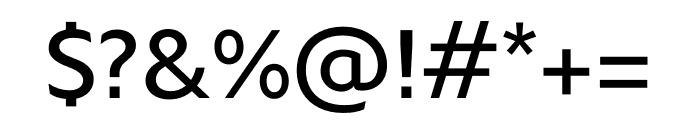 Xaviera Pro Regular Font OTHER CHARS