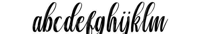 chaniago Font LOWERCASE