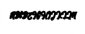 England ScriptFont.ttf Font UPPERCASE