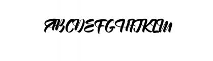 English.otf Font UPPERCASE