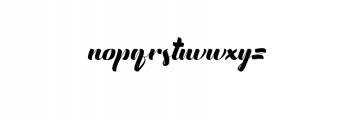 English.otf Font LOWERCASE