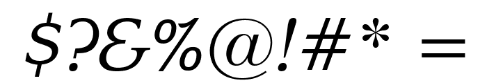 Enchanted Italic Font OTHER CHARS