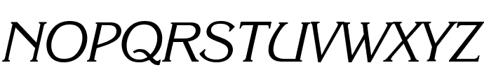 Enchanted Italic Font UPPERCASE