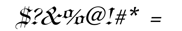 England Italic Font OTHER CHARS