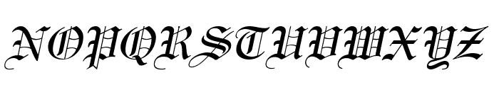 England Italic Font UPPERCASE