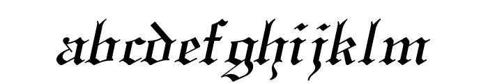 England Italic Font LOWERCASE