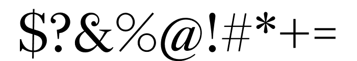English 1766 Light Font OTHER CHARS