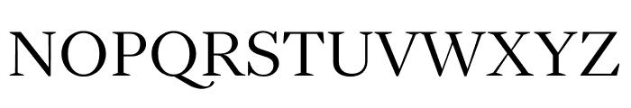 English 1766 Light Font UPPERCASE