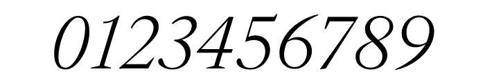 English 1766 Thin Italic Font OTHER CHARS