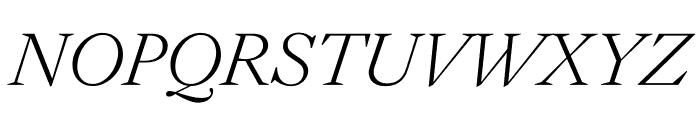 English 1766 Thin Italic Font UPPERCASE