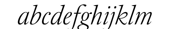 English 1766 Thin Italic Font LOWERCASE