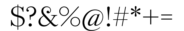 English 1766 Thin Font OTHER CHARS