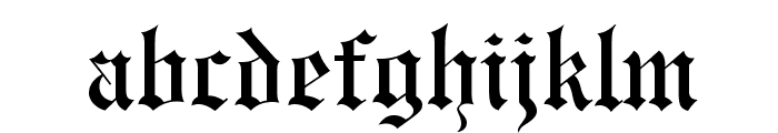 Engravers' Old English BT Font LOWERCASE
