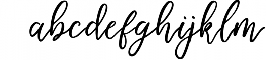 Endestry Modern Calligraphy Font LOWERCASE