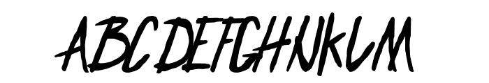 ENDLESS BUMMER Font UPPERCASE