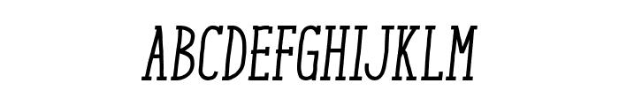 ENYO Serif Medium Italic Font UPPERCASE