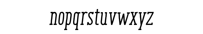 ENYO Serif Medium Italic Font LOWERCASE