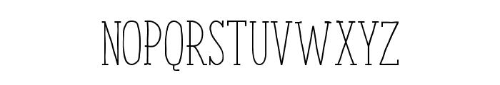 ENYOSerifLight Font UPPERCASE