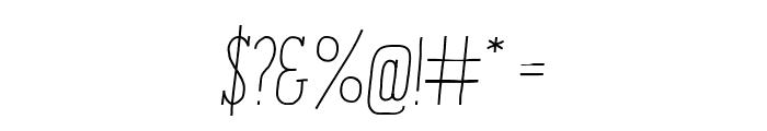 ENYOSerifLightItalic Font OTHER CHARS