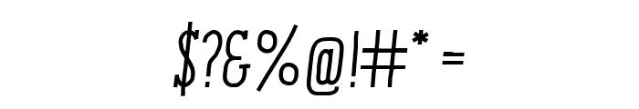 ENYOSerifMediumItalic Font OTHER CHARS
