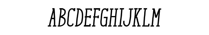 ENYOSerifMediumItalic Font UPPERCASE