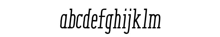 ENYOSerifMediumItalic Font LOWERCASE