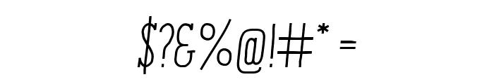 ENYOSerifRegularItalic Font OTHER CHARS