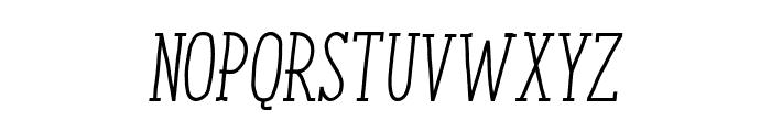 ENYOSerifRegularItalic Font UPPERCASE
