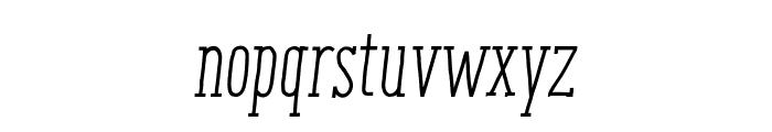 ENYOSerifRegularItalic Font LOWERCASE